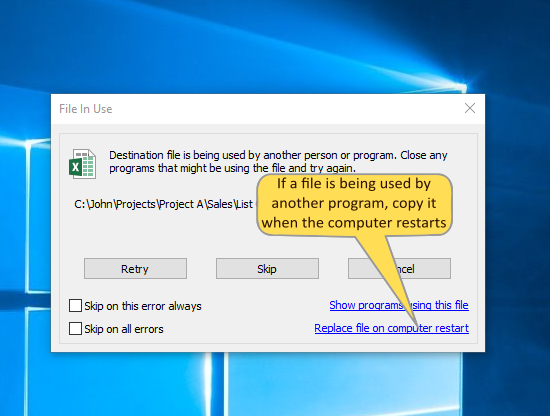 Copy only changed files. Copy only modified files. Copy only new files.