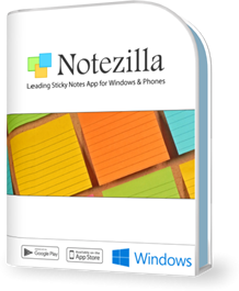 Notezilla sticky notes app for Windows