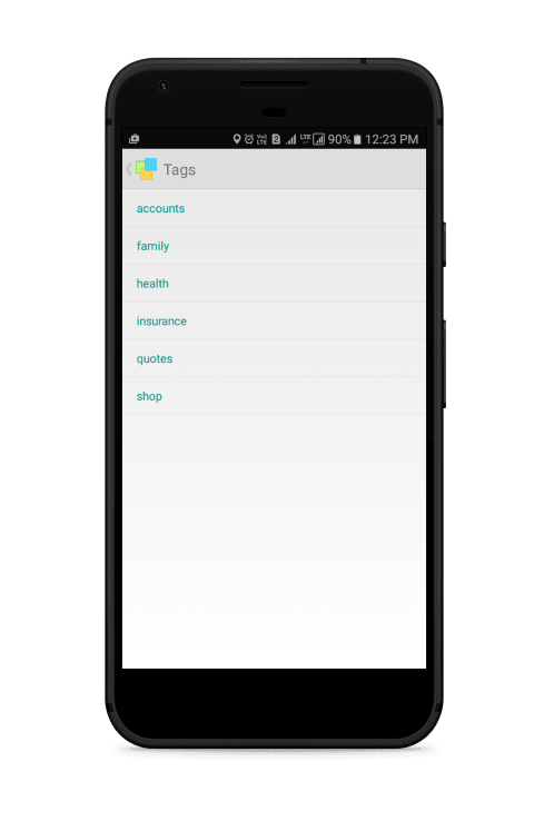 Notezilla for Android - Tags