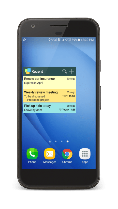Add Notezilla Widgets for Android Home Screen