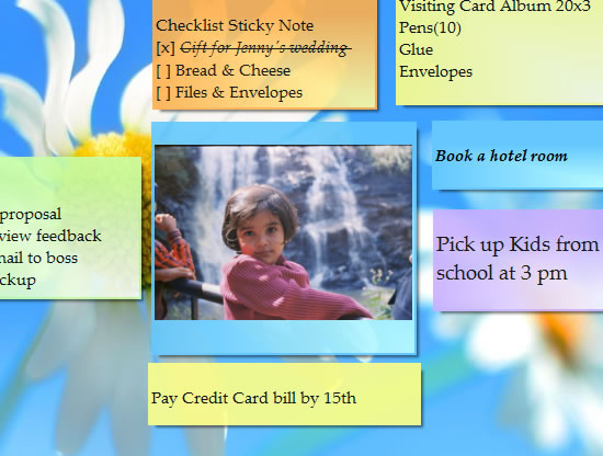 Insert pictures/images in sticky notes - Notezilla