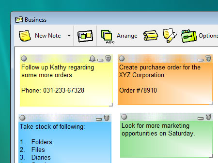 Move sticky notes to folders (memoboards) - Notezilla