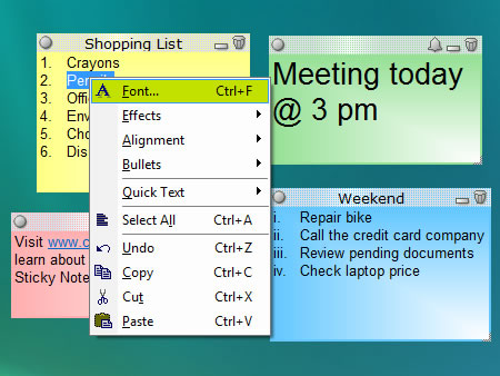 Sticky notes spelling check, insert pictures, text formatting - Notezilla
