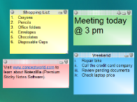 sticky notes on desktop - features & screenshots