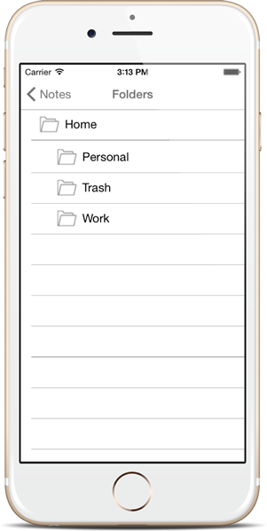 Organize Notes inside Folders - Notezlla for iPhone/iPad