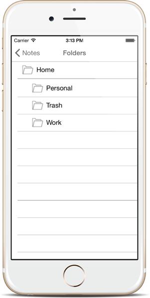 Organize Notes inside Folders - Notezlla for iPhone/iPad