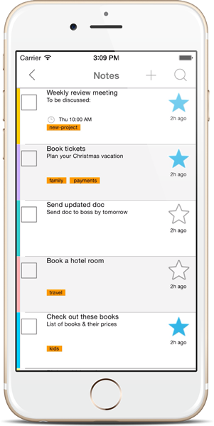 Notes List - Notezlla for iPhone/iPad