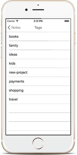 Assign Tags - Notezlla for iPhone/iPad