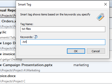 Smart-Tag-Window