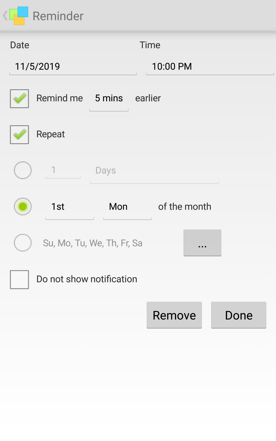 Android_reminders